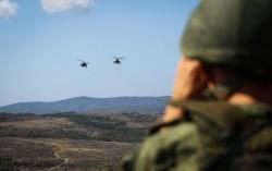 """АБХАЗИЯ: Испытание горами: российские военные атаковали """"противника"""" на боевых квадроциклах"""